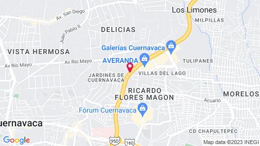 Fiesta Inn Cuernavaca Map