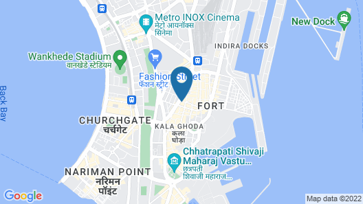 Residency Hotel - Fort - Mumbai Map
