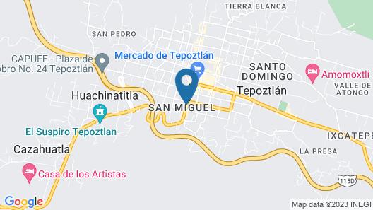 Casa Tepoztlán Map