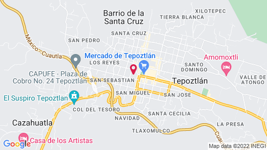 Hotel Posada Del Tepozteco Map