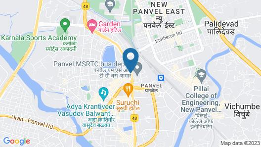 Hotel Vinamra Residency Map