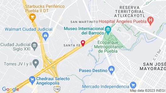 Camino Real Puebla Angelopolis Map