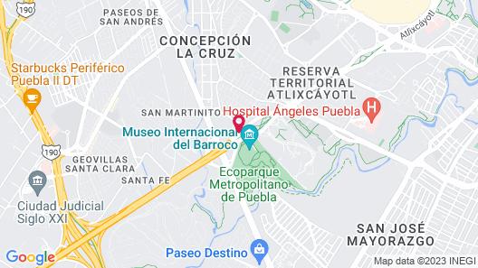 Hilton Garden Inn Puebla Angelópolis Map