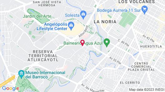 La Quinta by Wyndham Puebla Palmas Angelopolis Map
