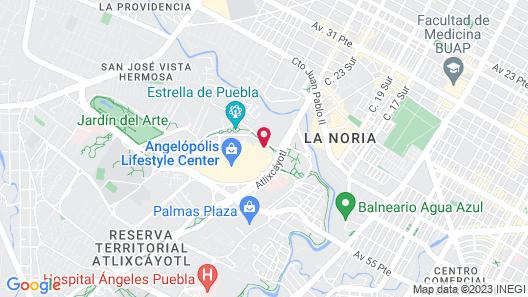 Grand Fiesta Americana Puebla Angelópolis Map