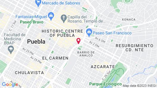Hotel Cartesiano Puebla Map