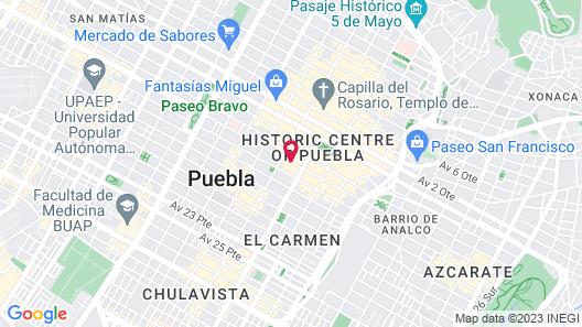 Quinta Real Puebla Map