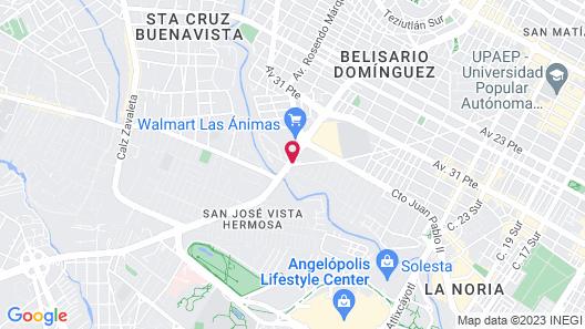 Fiesta Inn Puebla Las Animas Map