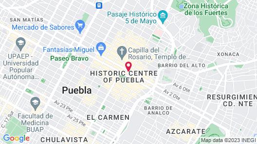 Hotel Palace Puebla Map