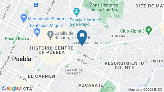 La Purificadora Map