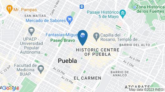 NH Puebla Centro Histórico Map