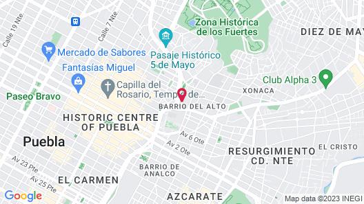 Azul Talavera Hotel Map