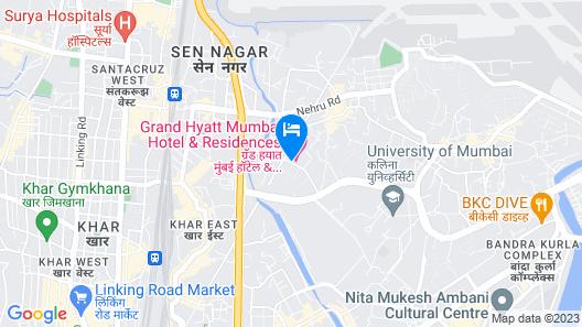Grand Hyatt Mumbai Hotel and Serviced Apartments Map