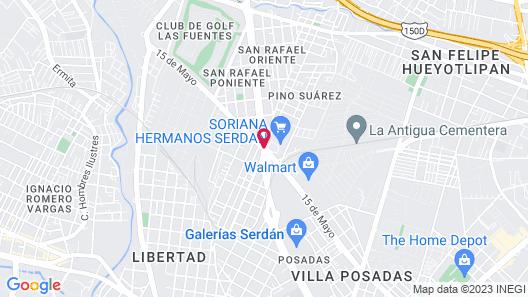 Staybridge Suites Puebla Map