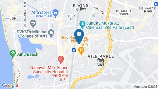 Hotel Parle International Map