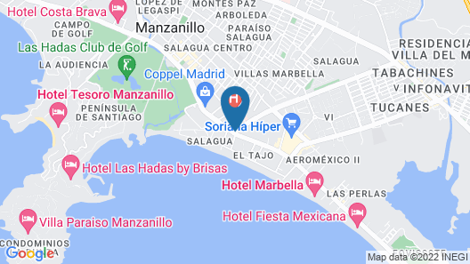 Hotel Fiesta Mexicana Map