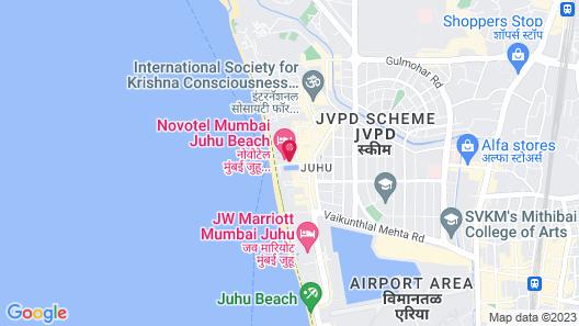Novotel Mumbai Juhu Beach Hotel Map