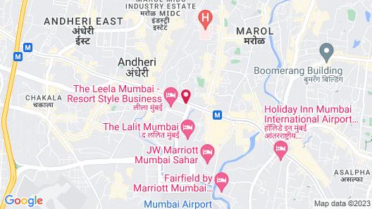 The Leela Mumbai Map