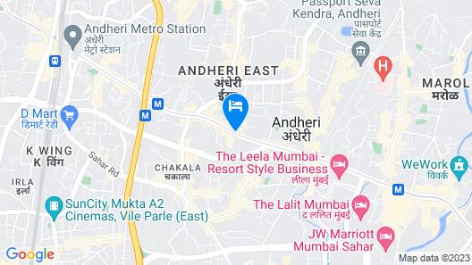 Courtyard by Marriott Mumbai International Airport Map