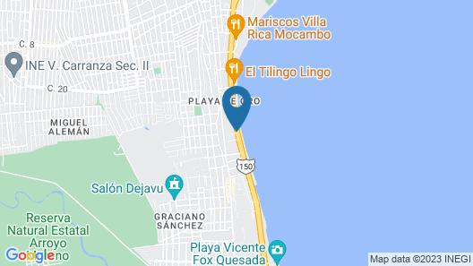 Hotel Suites Mediterraneo Map