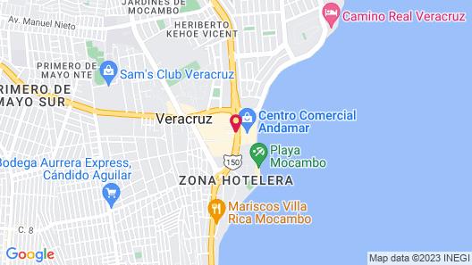 Hotel Indigo Veracruz Boca Del Rio Map
