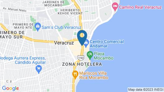 Holiday Inn Boca Del Rio Map