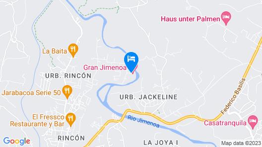 Hotel Gran Jimenoa Map