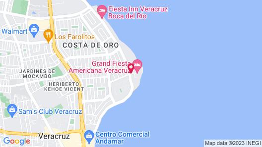 Grand Fiesta Americana Veracruz Map