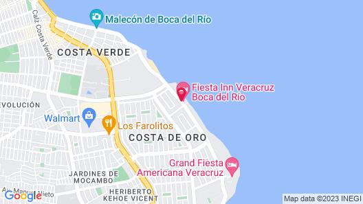 Fiesta Inn Veracruz Boca del Rio Map