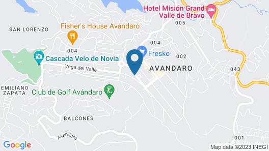 Hotel Boutique Unico Avandaro Map