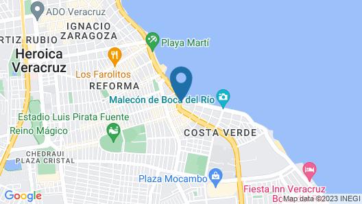Hotel Lois Veracruz Map