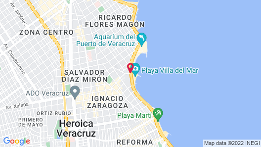 Comfort Inn Veracruz Map