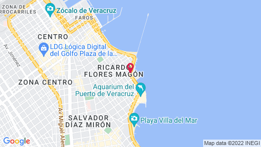 Howard Johnson Hotel Veracruz Map