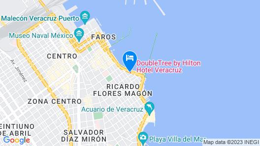 DoubleTree by Hilton Hotel Veracruz Map