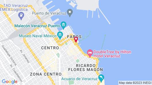 Hotel Mar y Tierra Veracruz Map