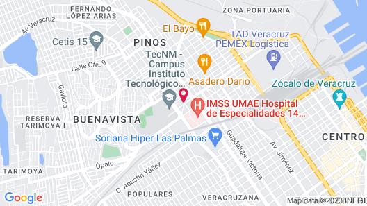 Hotel Fiesta Veracruz Map