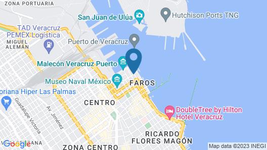 Fiesta Inn Veracruz Malecon Map