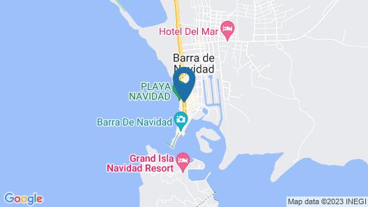 Hotel Barra de Navidad Map