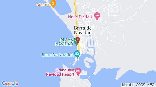 Bogavante Barra de Navidad Map