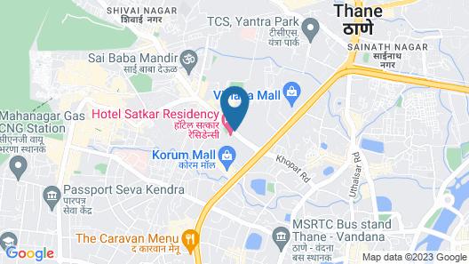 Hotel Satkar Residency Map
