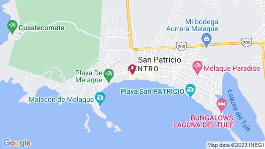 Bungalows Las Hamacas Map