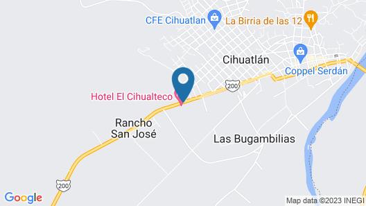 El Cihualteco Hotel Restaurante Bar Map