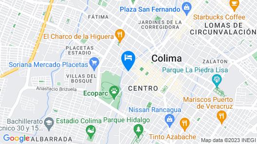 Hotel Boutique Hacienda del Gobernador Map