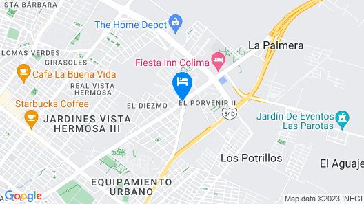 Hotel Misión Colima Map