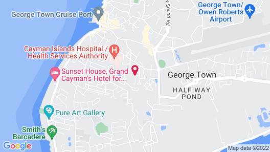 George Town Comfort 6 Min from Airport. Map
