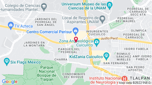 Radisson Paraiso Mexico City Map