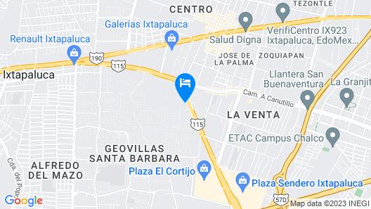 Hotel Aqueronte Map