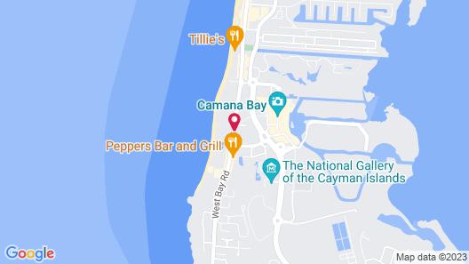 Oceanside Beach Condo - Right on Seven Mile Beach Map