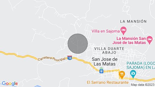 BELLA CASA 3DORM, 3BA, PISCINA, BILLAR, BBQ, COCINA, COMEDOR 6 SILLAS NEVERA Map