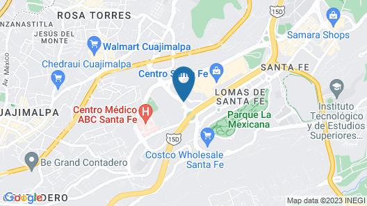 Stadía Suites Mexico City Santa Fe Map